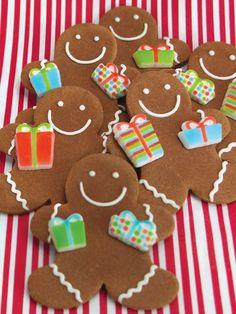 Gingerbread Men Cookies with Presents