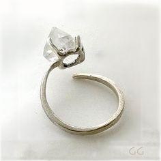 Ring with Diamond stone, Handmade.