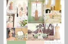 mints, idea, vintage weddings, color schemes, green, inspiration boards, wedding colors, peaches, wedding color palettes