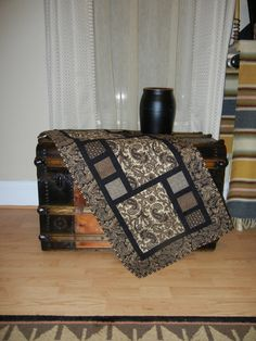 Contemporary quilted table runner by RaindropDesigns1 on Etsy, $75.00