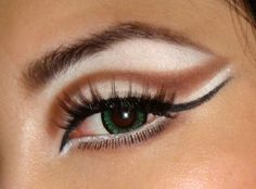 Cat Eyes Halloween Makeup - going to try this in costume coordinating colors!