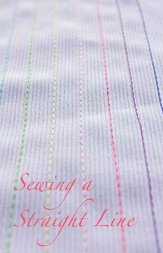 How to sew straight lines