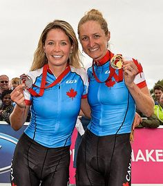29/07/2014 - Catharine Pendrel took a GOLD and Emily Batty took a SILVER in Mountain Bike at the 2014 Glasgow Commonwealth Games!