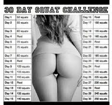30 day squat challenge bout to go hard!