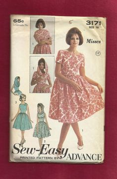 1960's Advance Pattern 3171 Bubble Dress with a by MrsWooster, $10.00