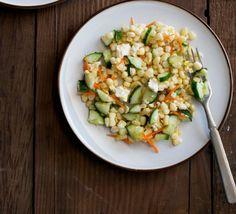 Corn, Cucumber and Feta Salad Recipe | http://aol.it/1oIHABx