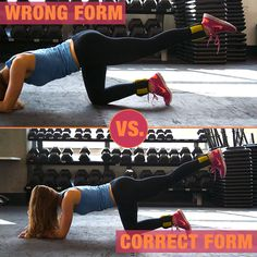 #WorkoutTip! This picture shows you how to do this move the right way. Things to keep in mind:     - Keep foot flexed.  - Keep back flat/tabletop.  - Lift foot above your butt.    #motivation #inspiration #fitness #fitspo #fitnessmotivation #fitspiration #workout #form