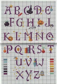 Harry Potter Alphabet Cross Stitch Solo Patrones Punto Cruz | Aprender manualidades es facilisimo.com