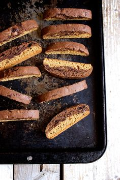 Gingerbread Mocha Biscotti // Kitchen Simplicity