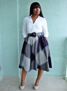 A-line skirt -always works