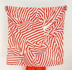 "Red Stripe Furoshiki. ""Furoshiki"" Japanese multi wrapping cloth and scarf."
