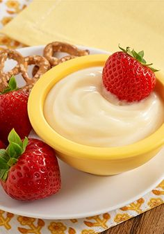 You'll only need 5 minutes to make this White Chocolate Lemon Fruit Dip recipe for dessert tonight!