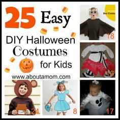 25 Easy DIY Halloween Costumes for Kids at About A Mom