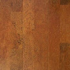 Copper Plank 13/32 in. Thick x 5 1/2 in. Wide x 36 in. Length Cork Flooring (10.92 sq. ft. / case)-PF9624 at The Home Depot in Omaha, NE ~ $4.49 /Sq. Ft.