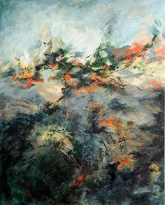 Original Abstract Acrylic Painting -- Nexus