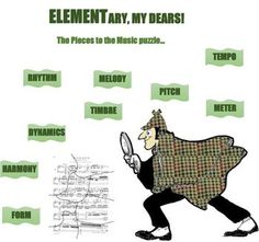 ELEMENTary, My Dears! Music Elements Bulletin Board Kid
