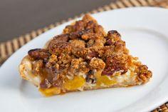 Peach and Maple Sour Cream Pecan Pie