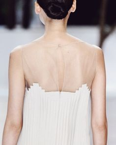 Sheer architectural dress