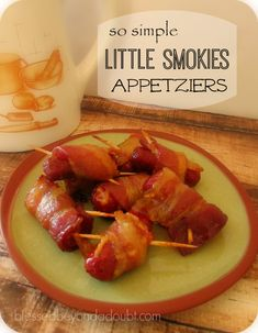 Simple, only 3 ingredients little smokies appetizers! Perfect for the holidays.