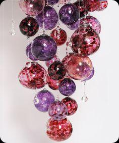 Handmade glass chandeliers