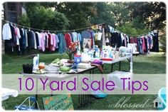 Good ideas for planning a yard sale