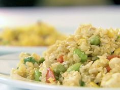 Fried Rice with Scallions, Edamame and Tofu Recipe : Ellie Krieger : Food Network - FoodNetwork.com