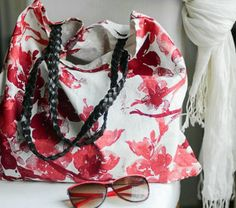DIY Upcycled Fabric Napkin Tote Bag