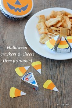 Halloween crackers & cheese - a free printable