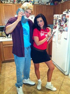 Our DIY Halloween costumes - Zack and Kelly