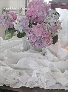 Ruffles & hydrangeas ruffl, color, hydrangea, flower