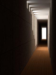 Modern Hallway, Blender 3D 2.62 CGI 5/5/2012  http://yodamon.blogspot.com/p/blender-3d-renders.html  see original photo that this was modeled after  http://pinterest.com/pin/254946028875945600/