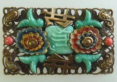 Not Neiger - but a fine example of the Oriental style!  This brooch contains elements which Neiger is not known to have used - so it cannot be verified.  Photograph Gillian Horsup.