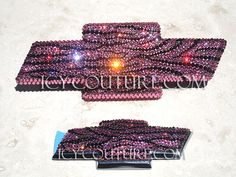 Crystal ZEBRA Bling CHEVY Bow Tie Emblem by IcyCouture on Etsy, $175.00