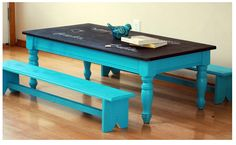 diy kids table with chalkboard top