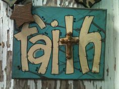 8x10 Hand painted Faith Canvas Sign by SignsBYDebbieHess on Etsy, $12.99