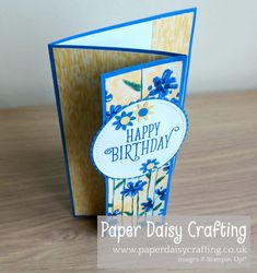 Paper Daisy Crafting: Easy to follow video tutorial for Fancy Fold card