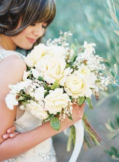 lovely bridal bouquet via Once Wed