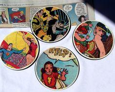 DIY comic book geek coasters. | Mod Podge Rocks