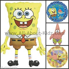 Nickelodeon SPONGEBOB & Patrick Birthday PARTY BALLOONS - Make Your Own Set ~ www.All-About-Kidz.com
