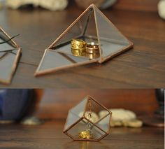 copper+ glass: little jewelry displays