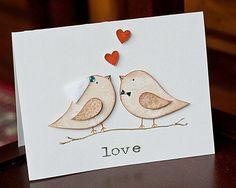 Handmade anniversary / wedding card     on Etsy