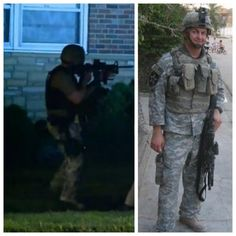 """From the 'Veterans on Ferguson' Storify: """"The general consensus here: if this is militarization, it's the shittiest, least-trained, least professional military in the world, using weapons far beyond what they need, or what the military would use when doing crowd control."""" (thx David Wolfgang Kimball)"""