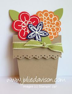 Flower Pot Card Video Tutorial