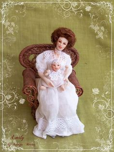 EMILY ooak 112  doll by Soraya Merino by SorayaMiniatures on Etsy, $189.00