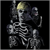 Karate kid bad guy skeleton