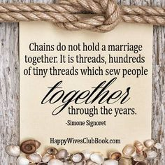 Chains Do Not Hold A Marriage Together