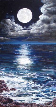 Blue Moonlight Swim