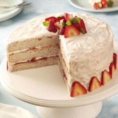 Strawberry Jam Cake Recipe from Taste of Home