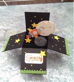 suo challeng, rocket, box card, space card, stampin up cards