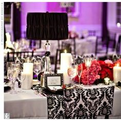 More Black and White Decor with pops of color